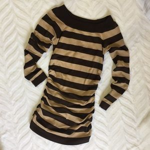 Brown Striped Sweater Medium